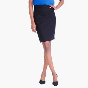 J.Crew Black Cotton Pencil skirt size 10